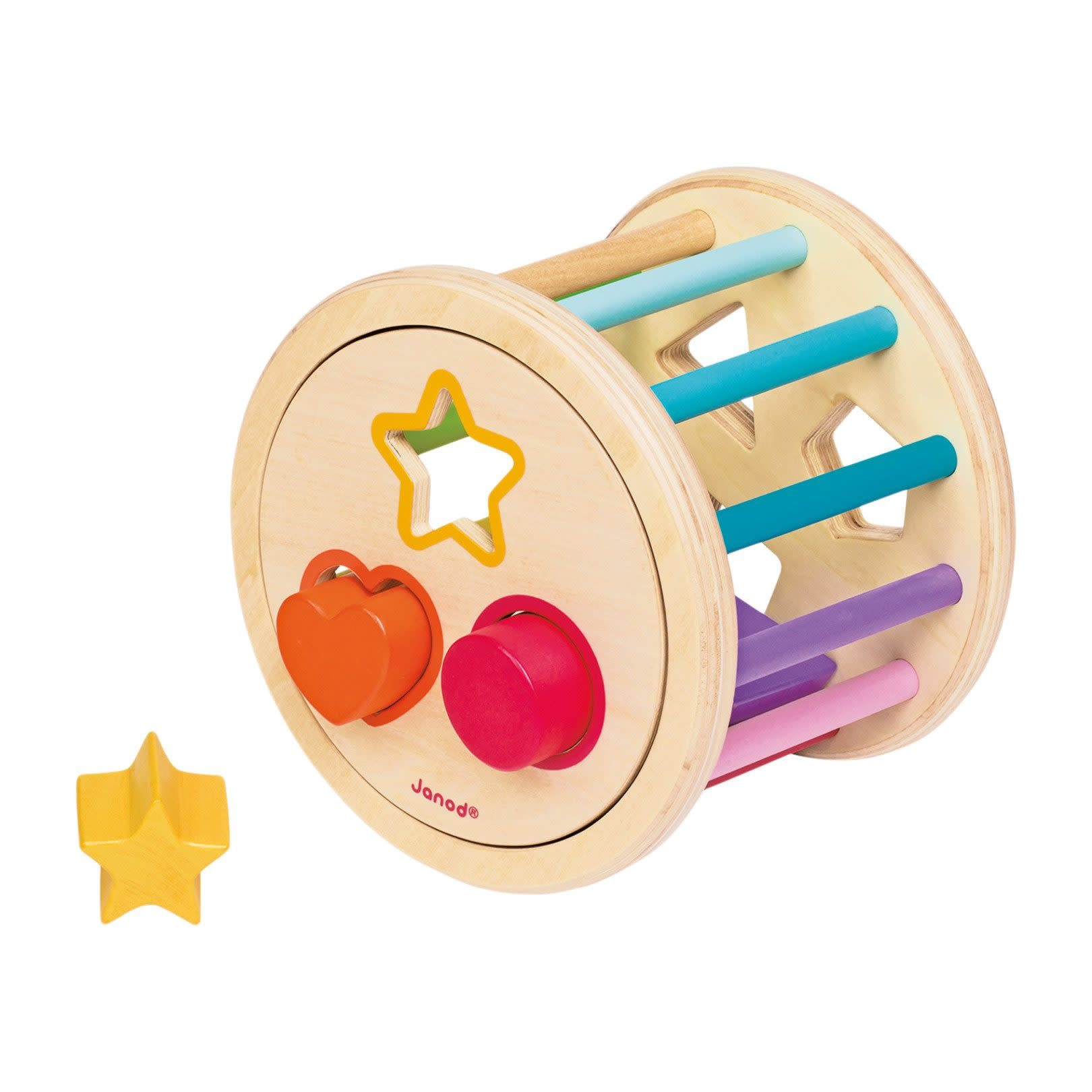 I wood shape sorter drum-4