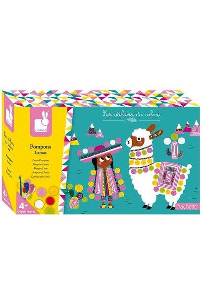 POMPOMS - LLAMA art kit