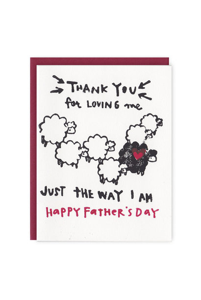 black sheep fathers day card