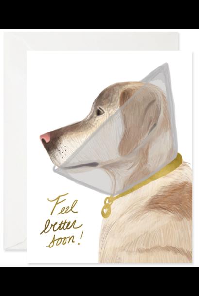 feel better doggie card