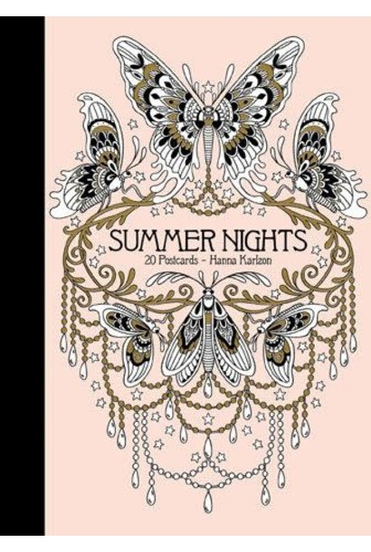 summer nights 20 coloring postcards