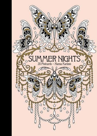 summer nights 20 coloring postcards-1