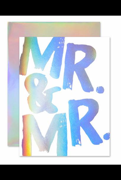 mr & mr hollagram card