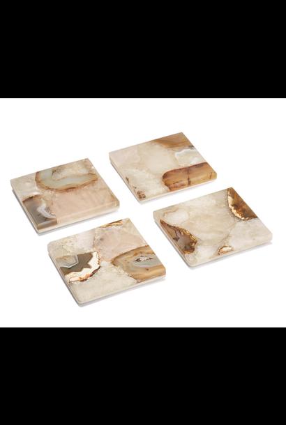 agate marble coasters set/4