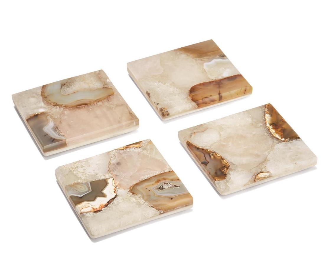 agate marble coasters set/4-1