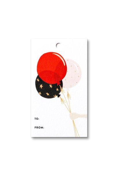 balloon gift tag
