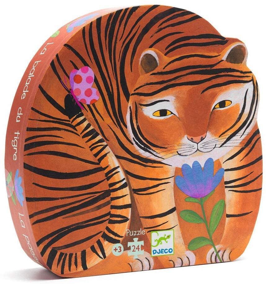 tiger's walk silhouette puzzle-1