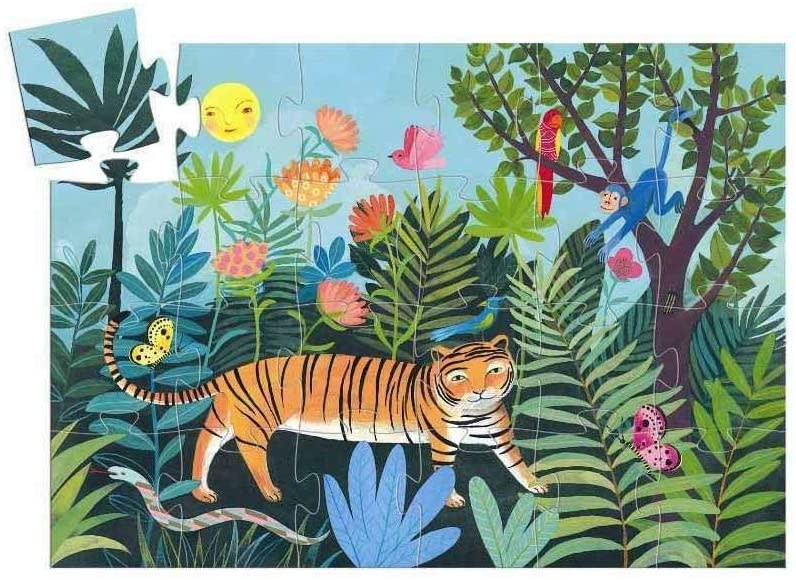 tiger's walk silhouette puzzle-2
