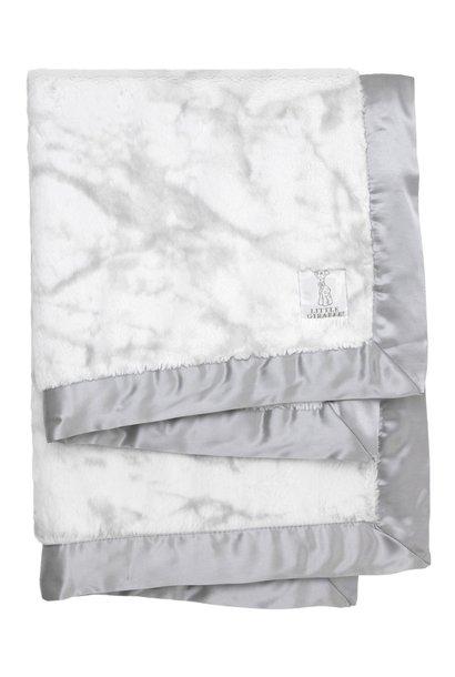 luxe marble baby blanket