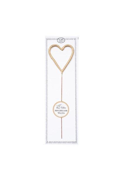 TM2 big gold sparkler wand heart