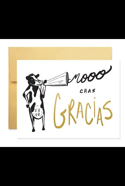 moochas gracias thank you card