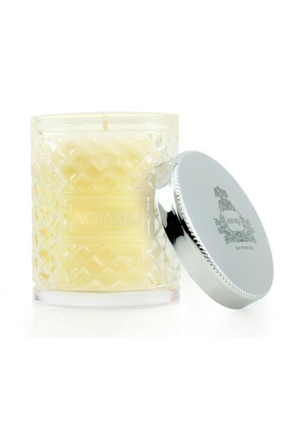 petite bitter orange woven crystal candle