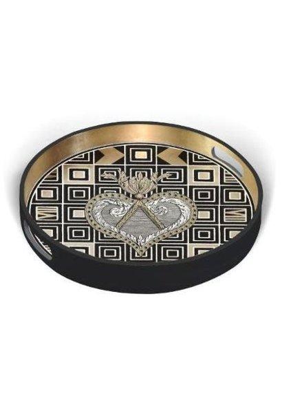 Lacroix atout coeur lacquer tray (round)