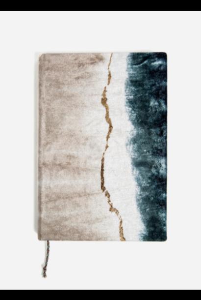 geode dip dye velvet journal