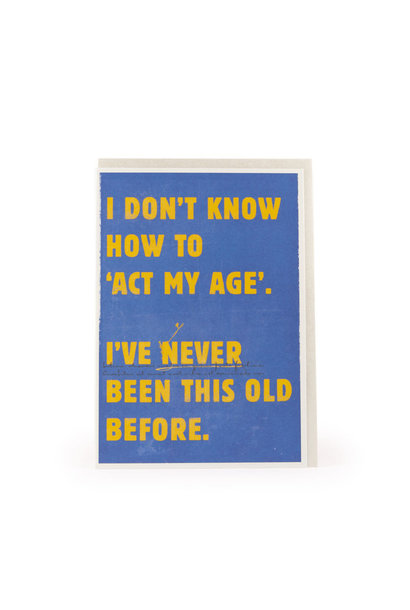 act my age card