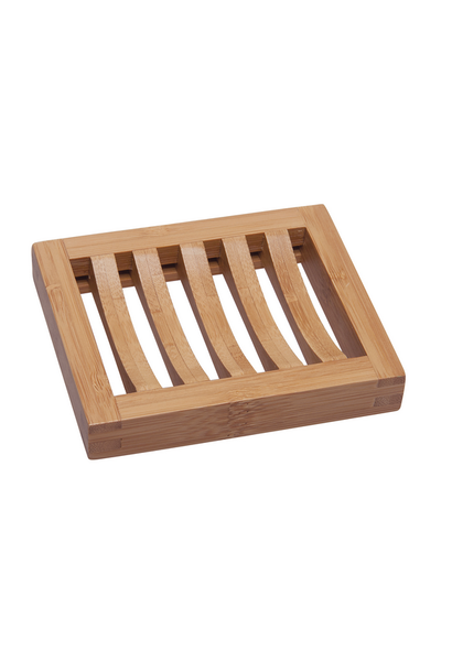 bamboo soap stand rectangle