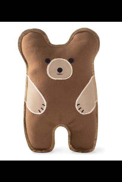 bear canvas dog toy