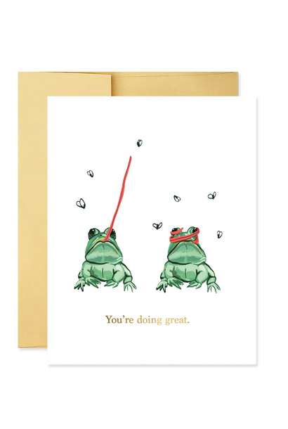 you're doing great frog card