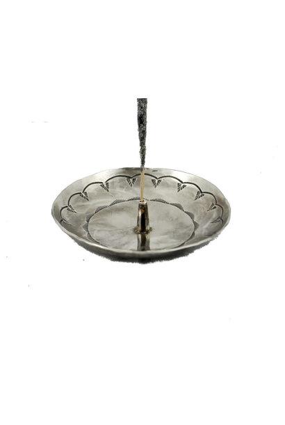 stamped round incense holder