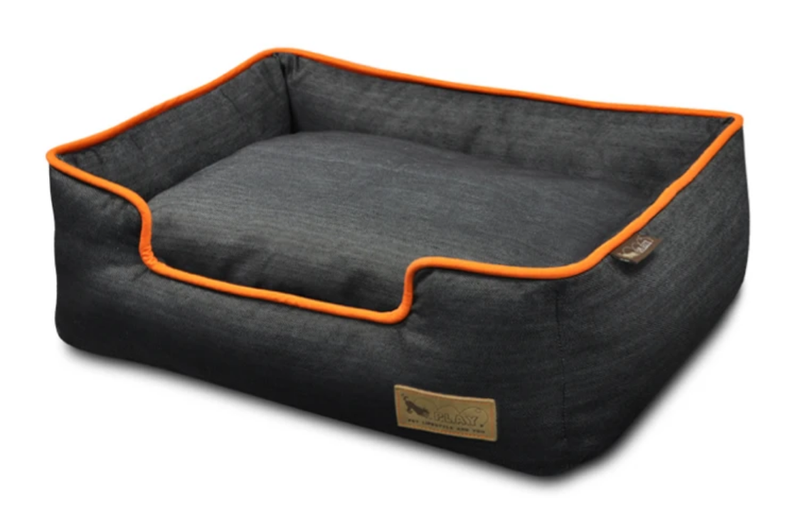 Denim Lounge Bed - Orange (Small)-1