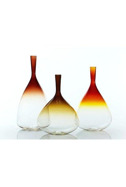 """aurora 13"""" gold vase"""