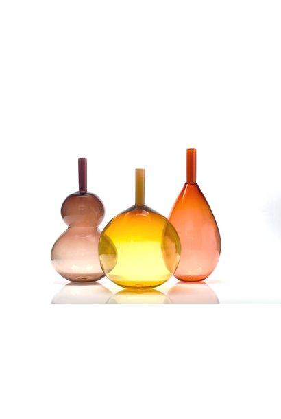 tube top vase apricot orb