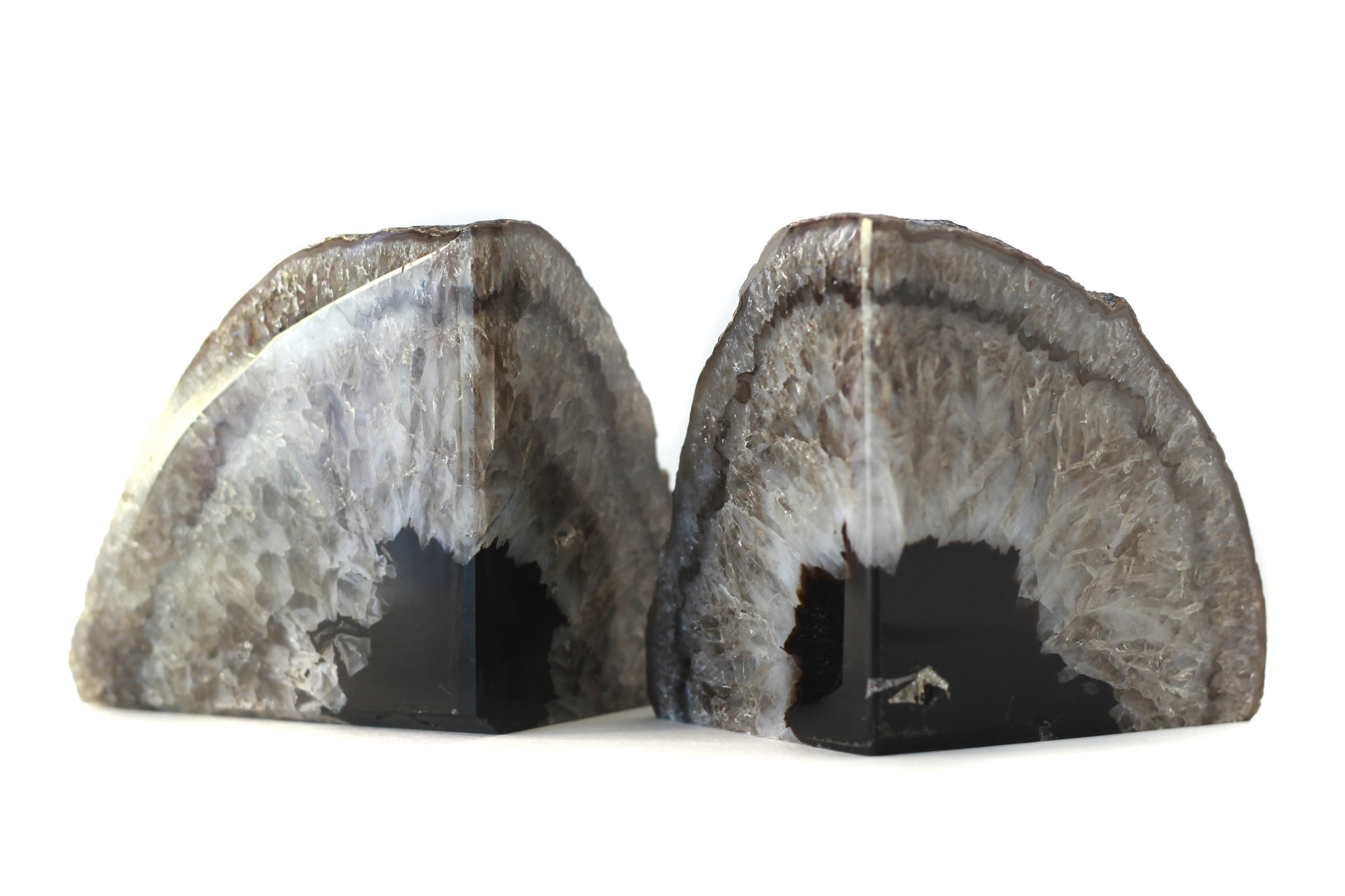 natural agate geode book ends-2