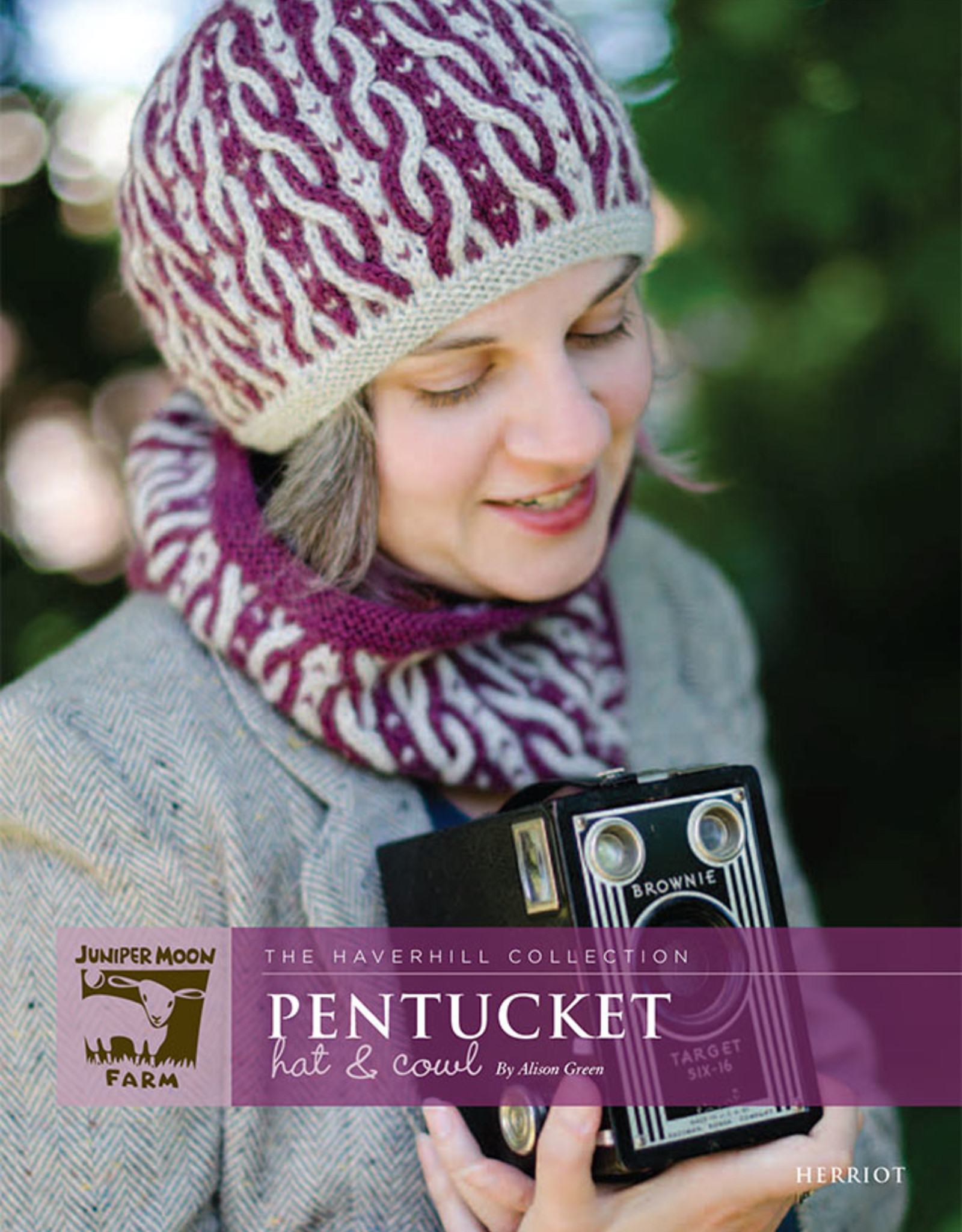 Safer At Home Pentucket Hat and Cowl Pattern Free with Required Yarn