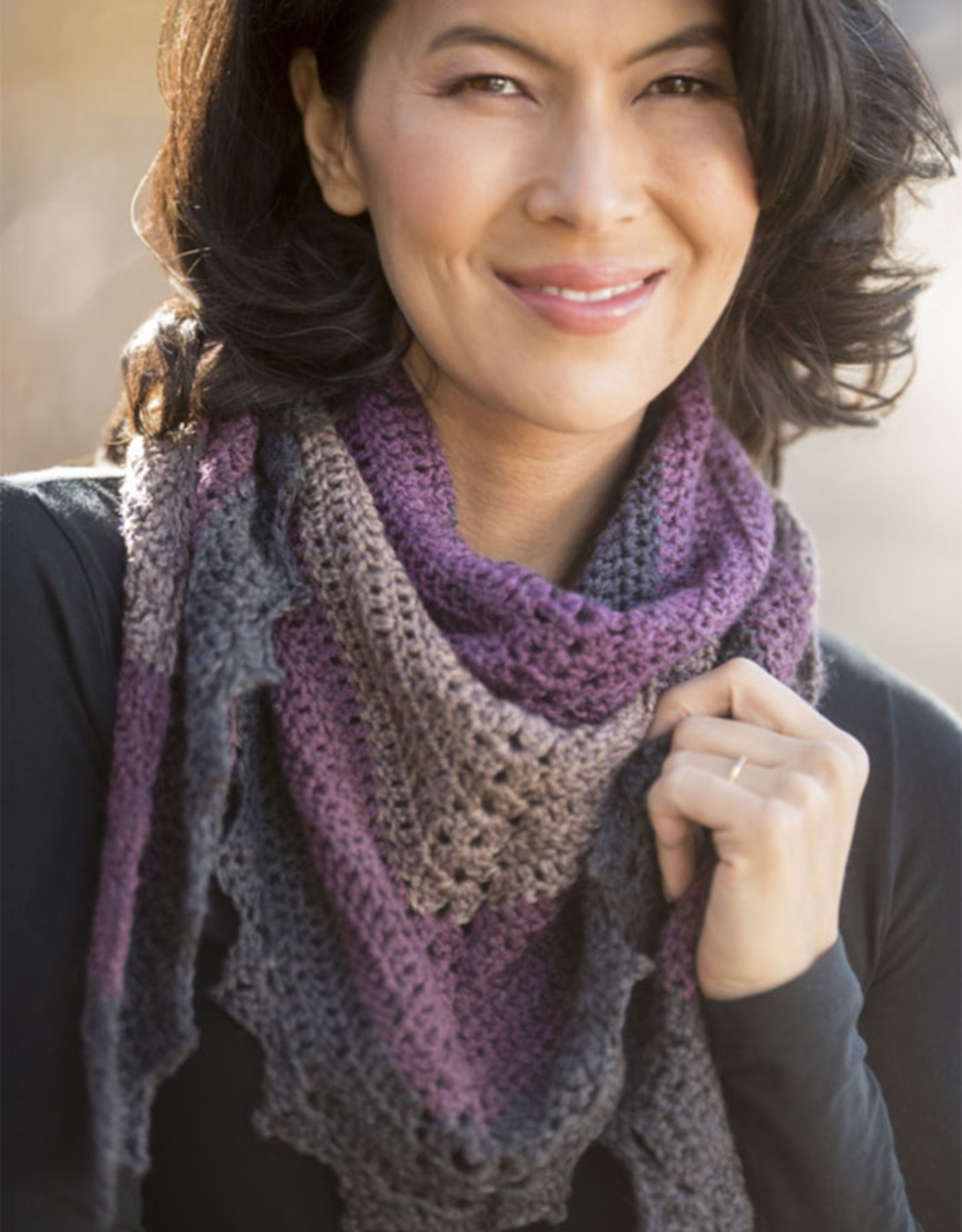 Cascade Yarns Safer At Home Dark Sky Shawl Pattern Free with Required Yarn