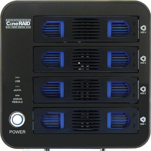 CineRAID 4-Bay RAID (Diskless) USB 3.0/eSATA, 1Year Mfg. Warranty
