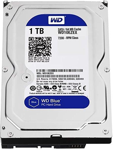 Western Digital Blue 3.5'' 1TB SATA 7200RPM 6 Gbps, 7200RPM, 2 yr mfg. warr