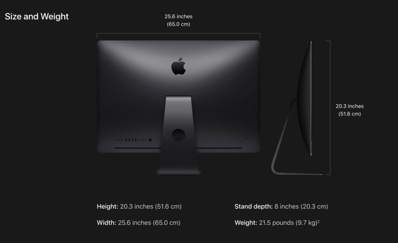 """Apple iMac Pro 27"""" 3.2GHz 8C/64GB/1TB SSD/Vega56 w/8GB/L17"""