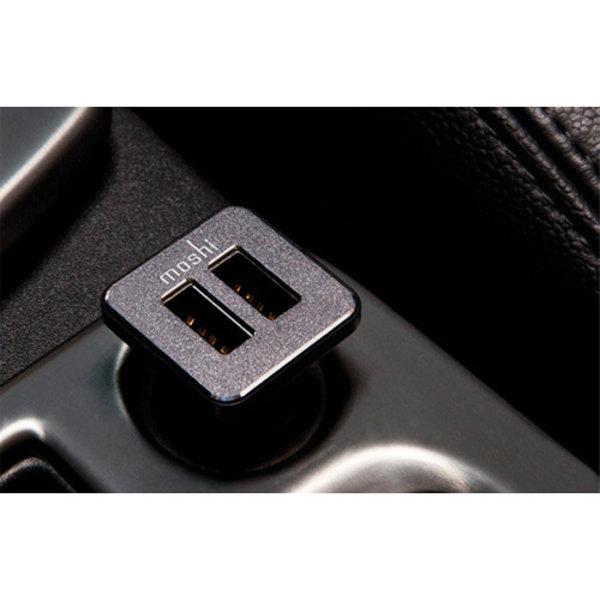 Moshi Moshi Revolt Duo - Dual Port USB Car Charger  (2x2.1A/20W)