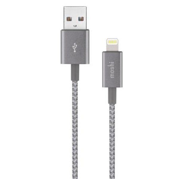 Moshi Moshi 3.9' Lightning to USB-A Charge/Sync Cable - Titanium Gray (Integra Series -Supports 12W)