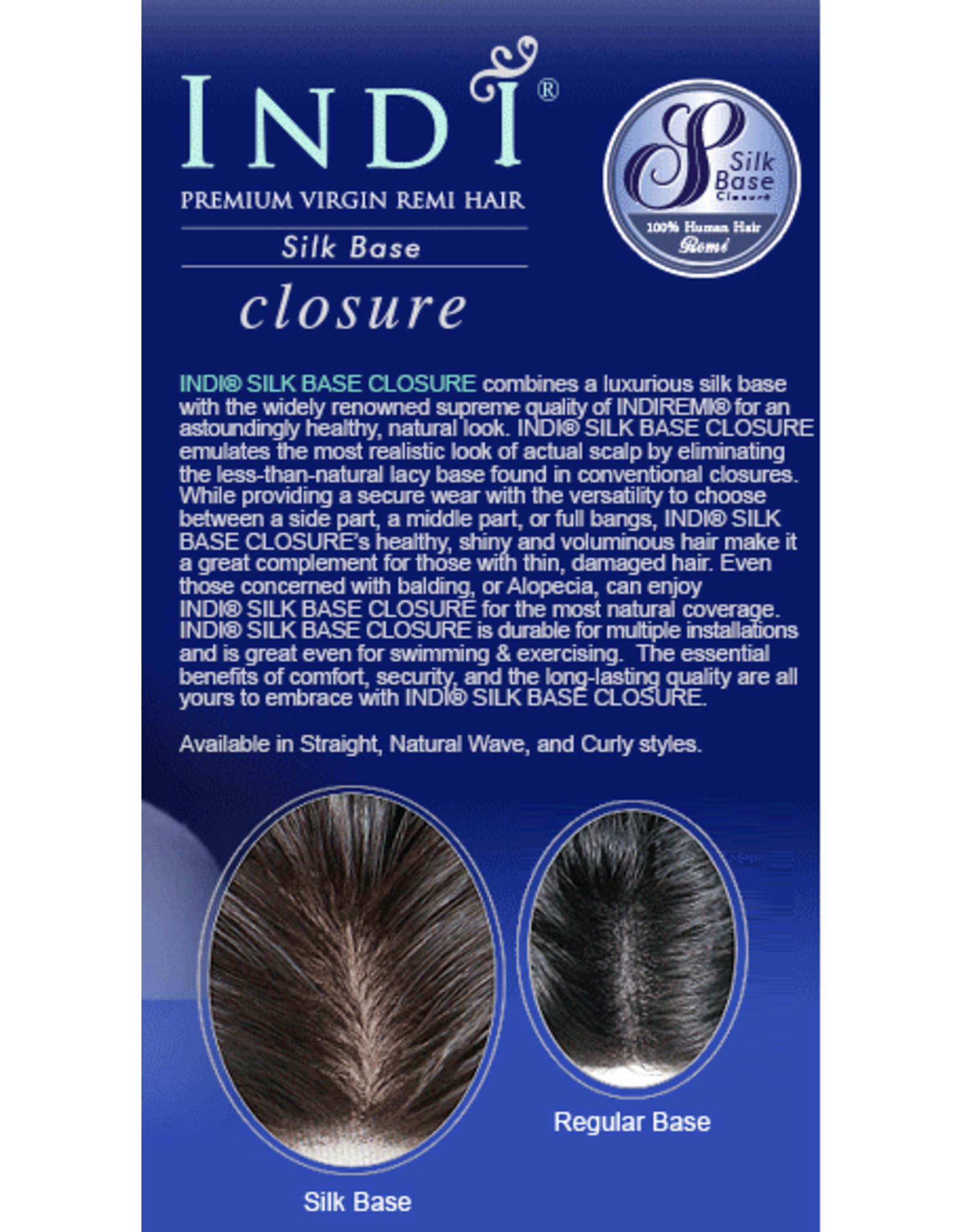 IndiRemi INDI SB CLOSURE - MINKY CURLY