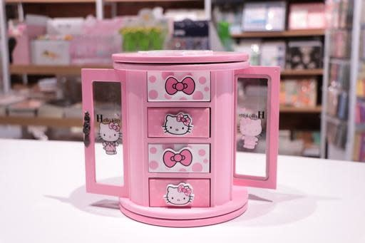 Hello Kitty Round Spin Jewellery Box