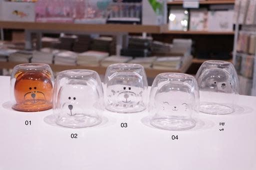 Bear Bears Glass Cup