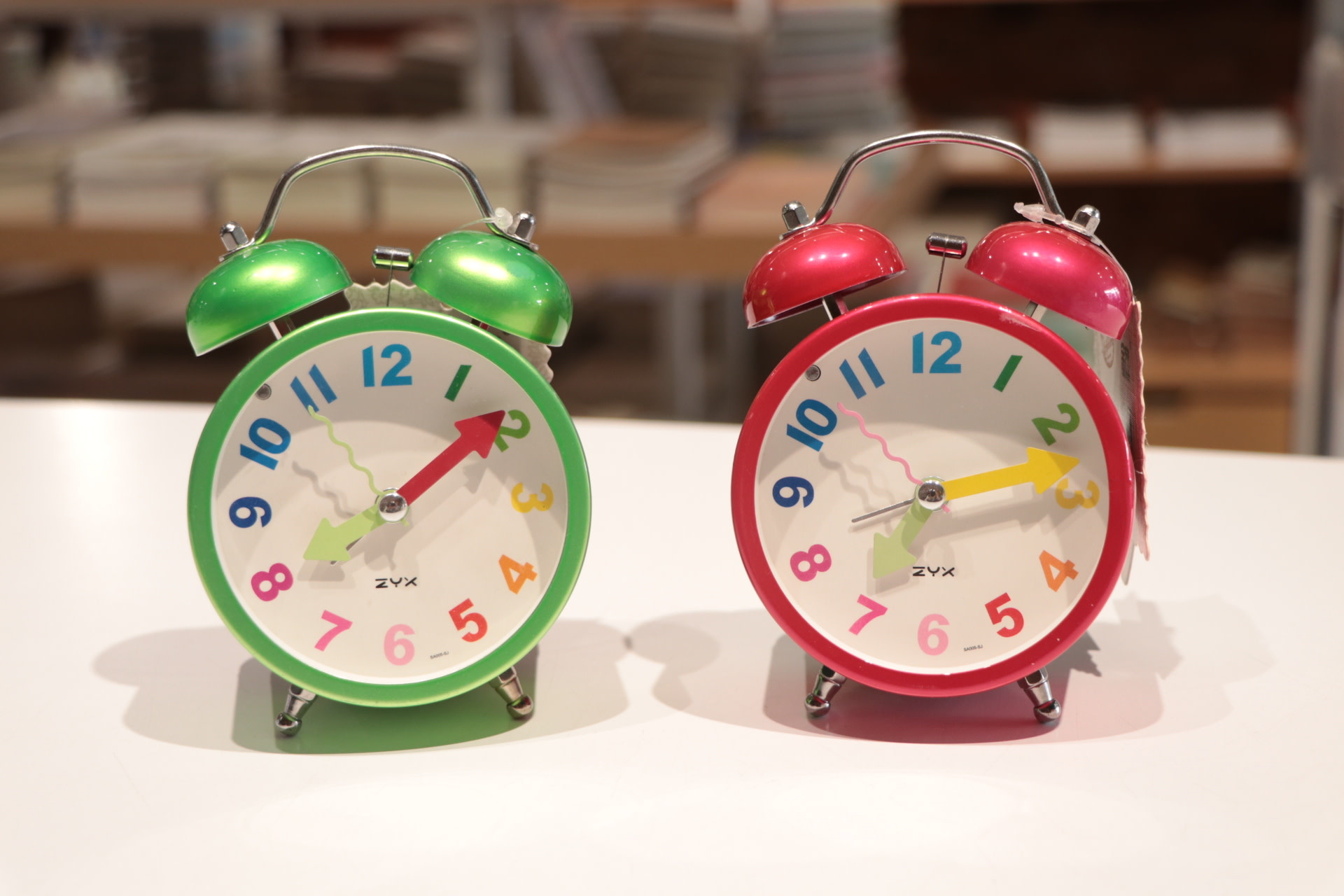 Colorful Numbers Small Clock with Alarm