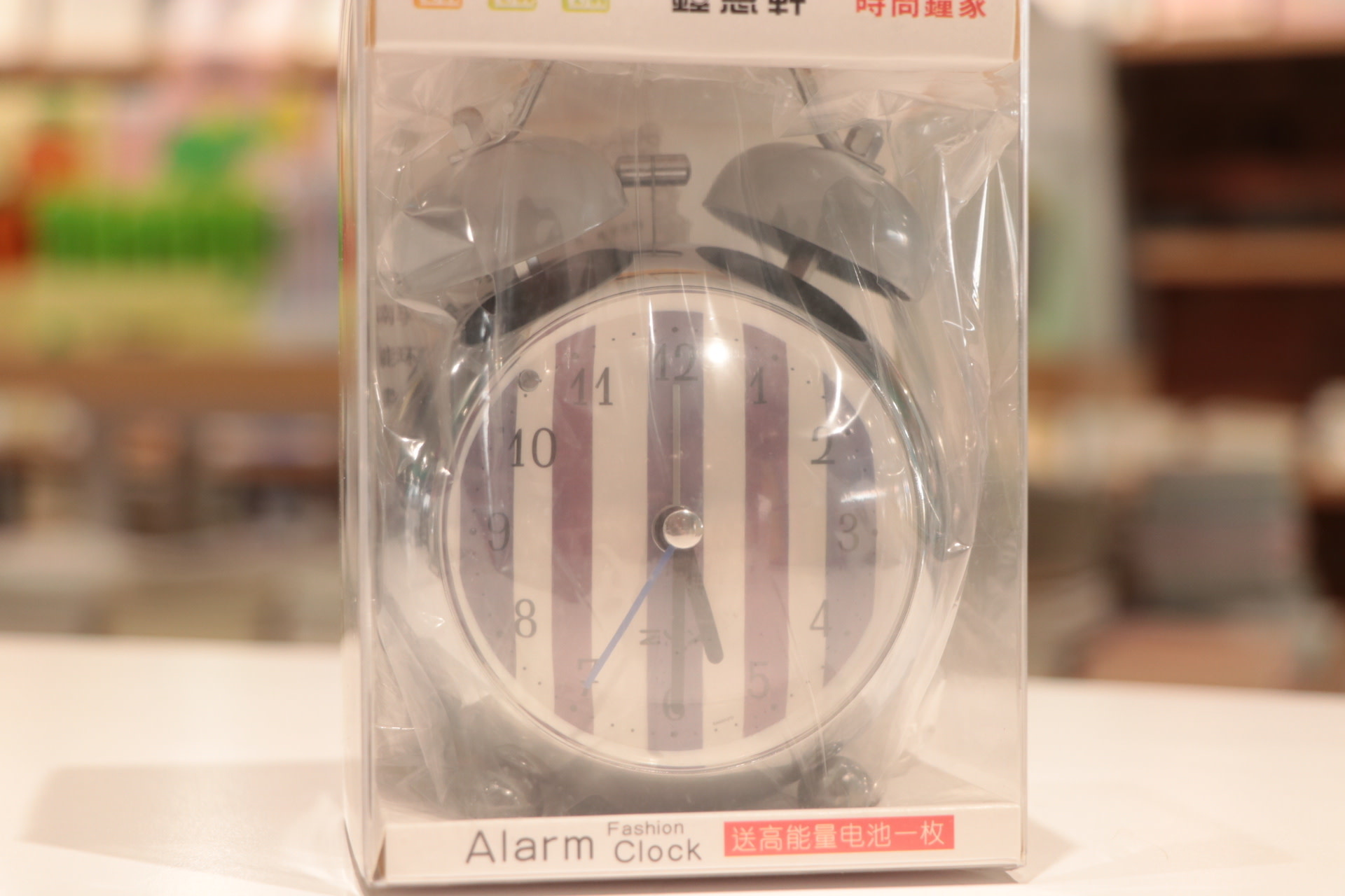 Pattern Super Round Small Clock with Alarm