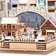 12x7 Laser Cut Lite-up Village Winter Scene