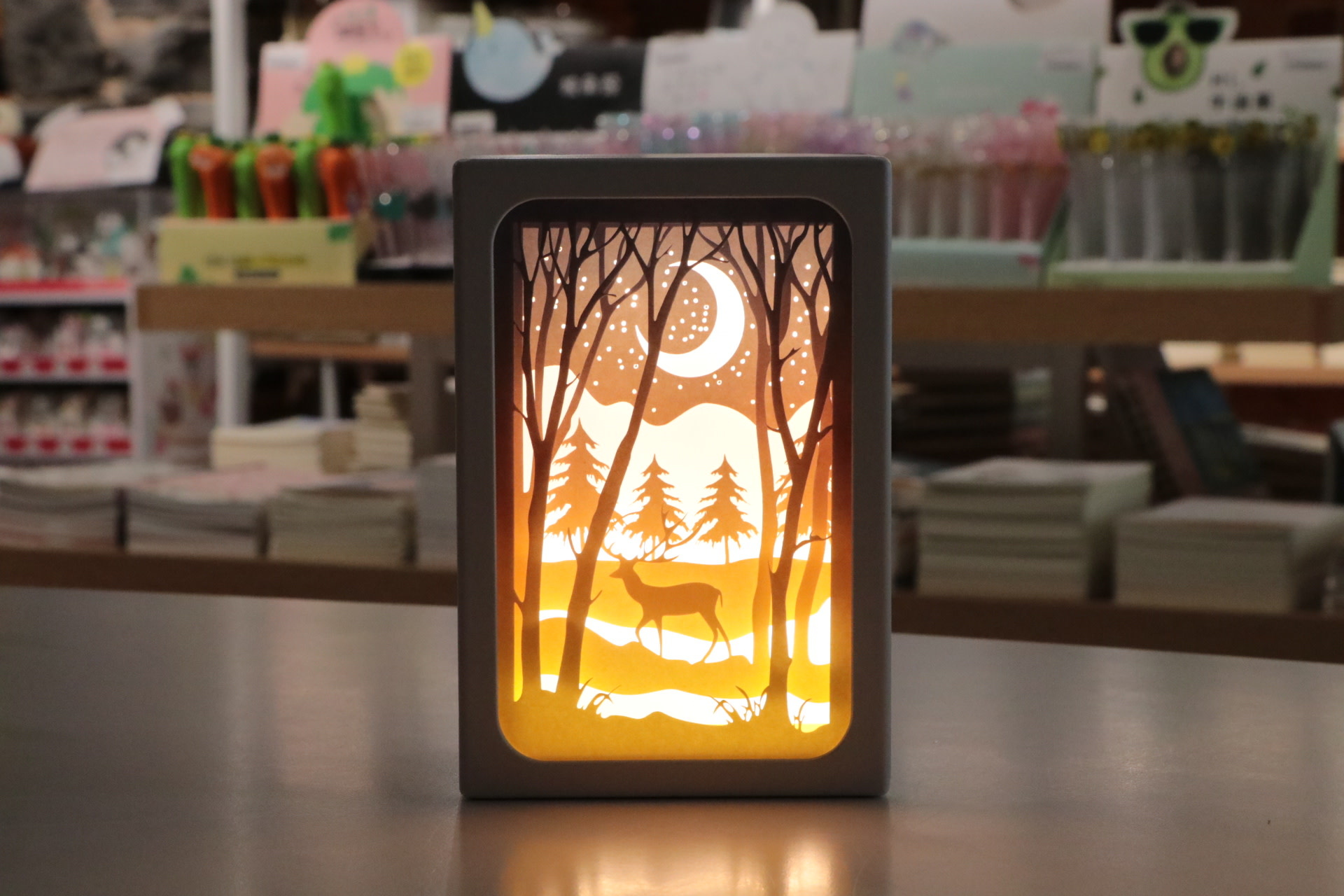 4x6 LED Frame W/Elk At Lake