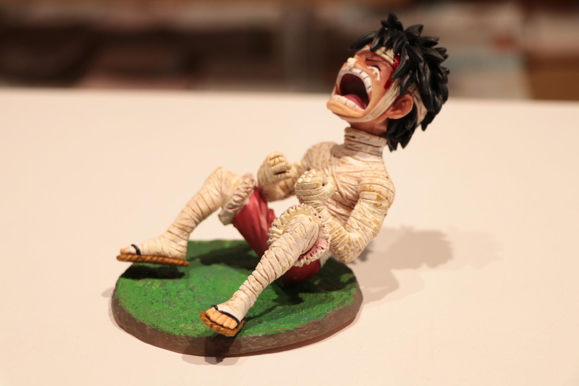 Bandaged Crying Luffy One Piece