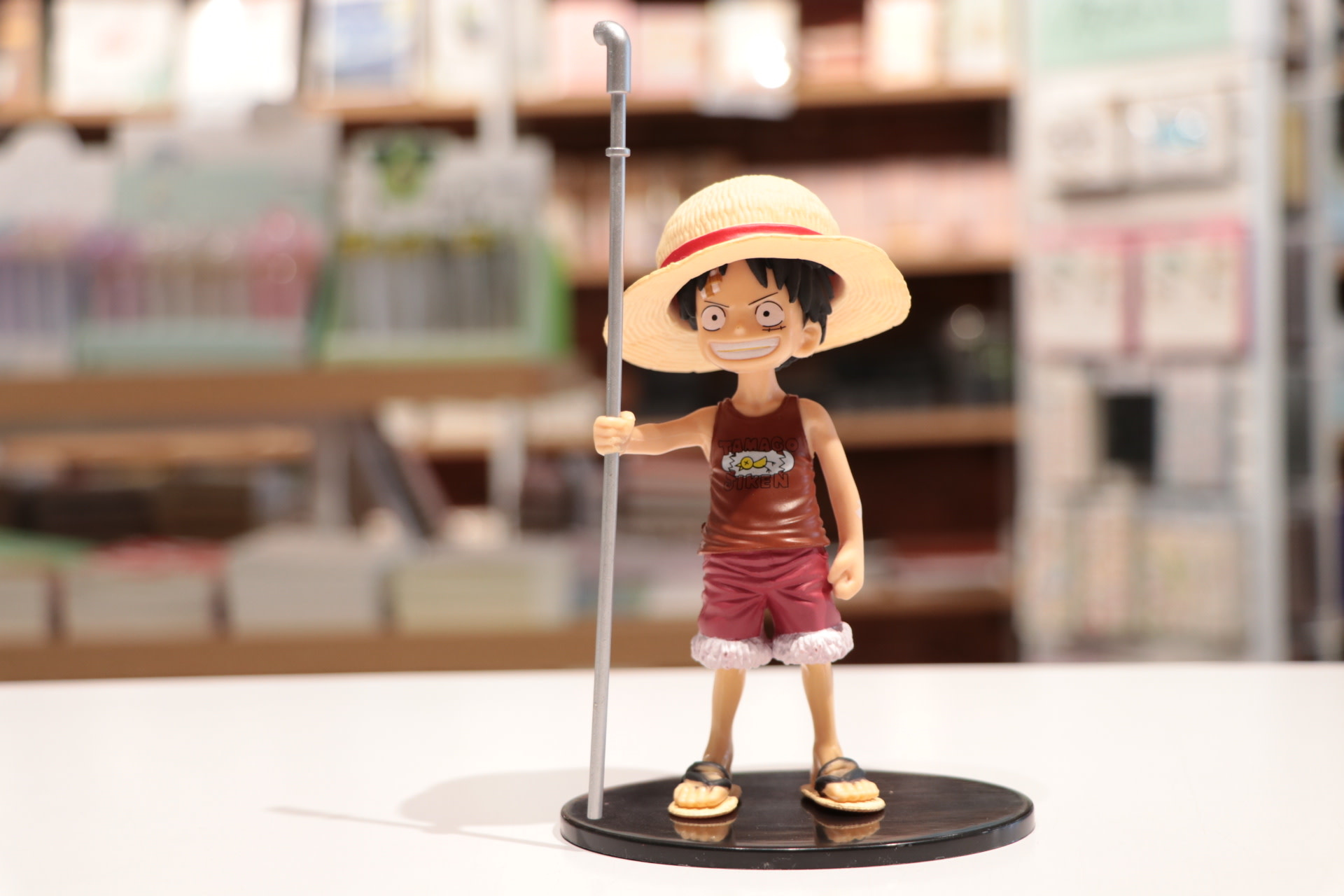 Young Luffy with Metal Pole