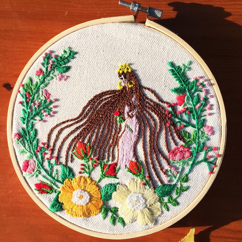 697588349 Hair Flower Embroidery