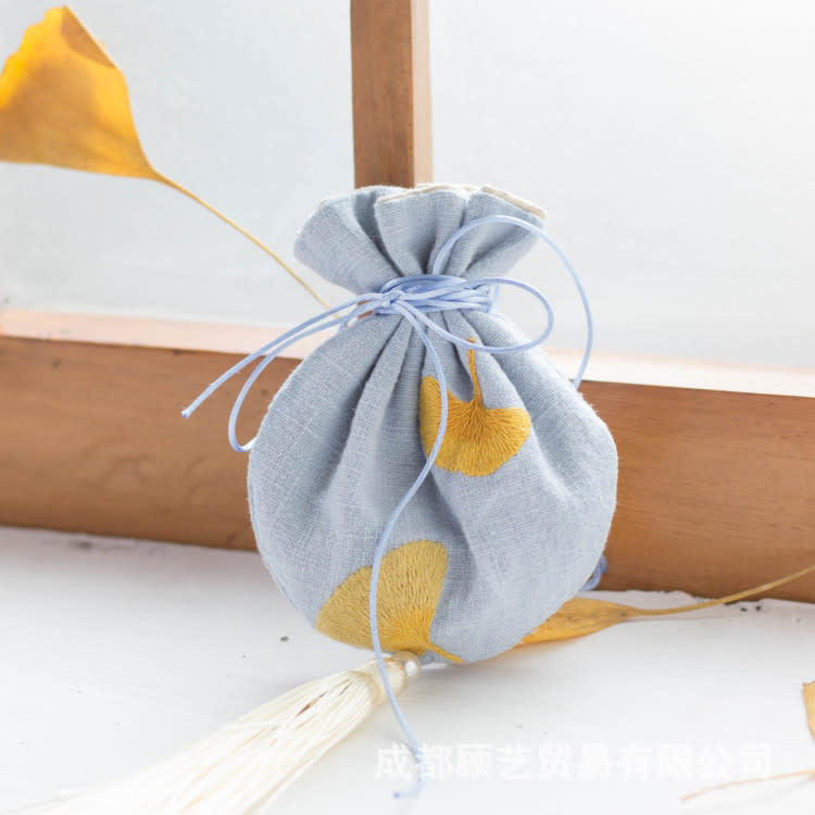 Japanese Yellow Leaf DIY Embroidery