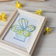DIY Square Succulents Embroidery 10cm