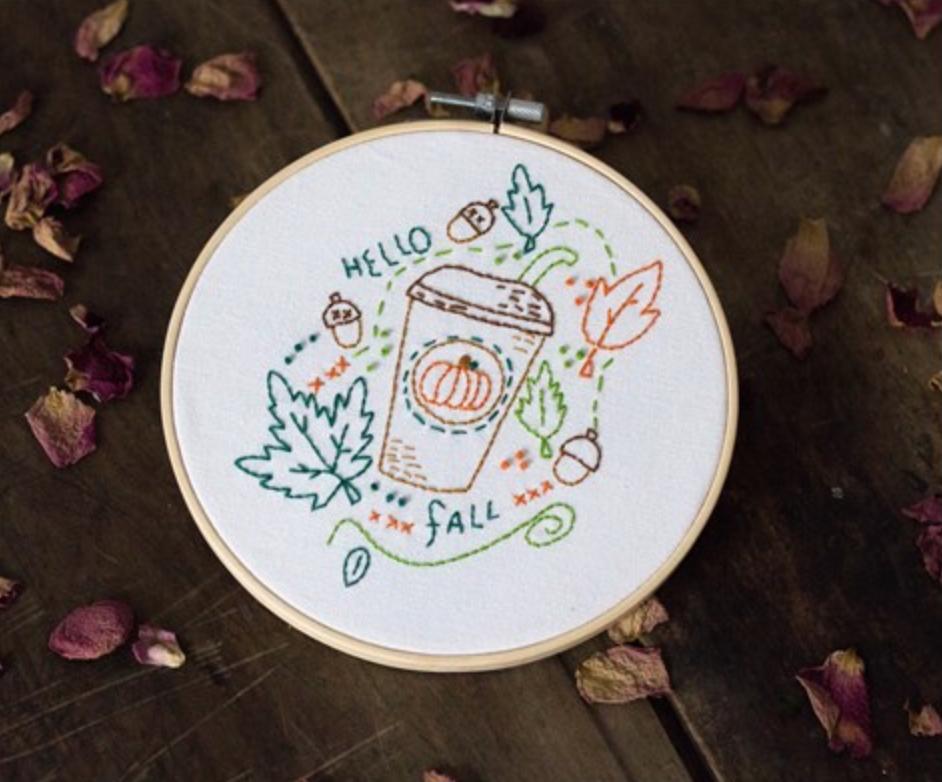 Cute DIY Embroidery Coffee 15cm