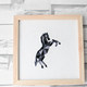 Mosaic Animals DIY Embroidery Horse 22cm