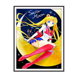WM3255-01 Sailormoon on Moon Diamond Dot 36*46cm