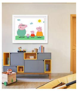 CBZ404-02 Peppa Family DIY Dot Painting 40*30cm
